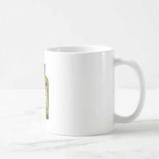 Caneca De Café Homem acima dos comprimidos
