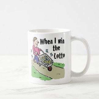 Caneca De Café Homem de vencimento do design da lotaria com o