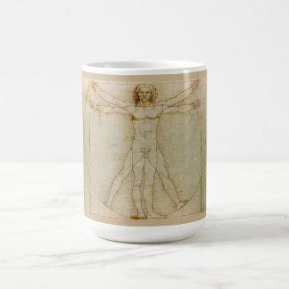 Caneca De Café Homem de Vitruvian por Leonardo da Vinci