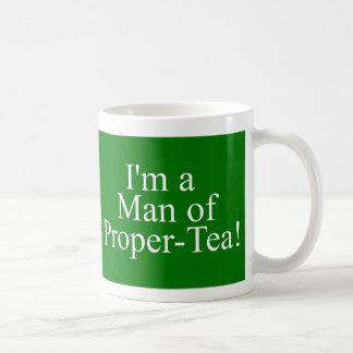 Caneca De Café homem do chá apropriado verde escuro