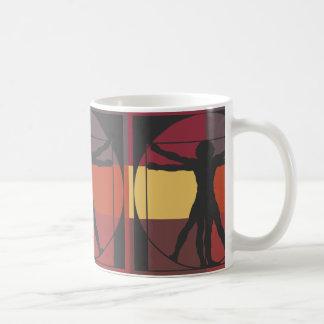Caneca De Café Homem geométrico de Vitruvian