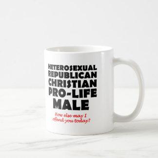 Caneca De Café Humor cristão masculino republicano ofensivo da