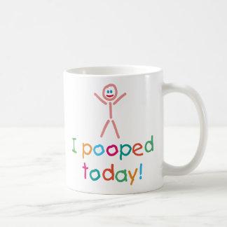 Caneca De Café I engraçado Pooped agride hoje