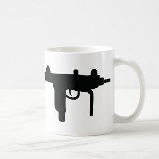 Caneca De Café Ícone da arma da arma de Uzi