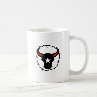 Caneca De Café Ícone do arame farpado de Texas Longhorn
