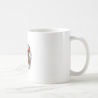 Caneca De Café Ícone foragido do fio de Barb da bandeira de Texas