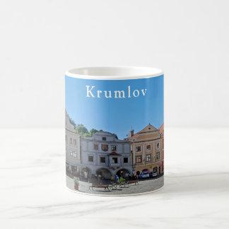 Caneca De Café Ideia da praça da cidade em Krumlov