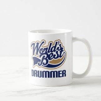 Caneca De Café Ideia do presente do baterista dos mundos a melhor