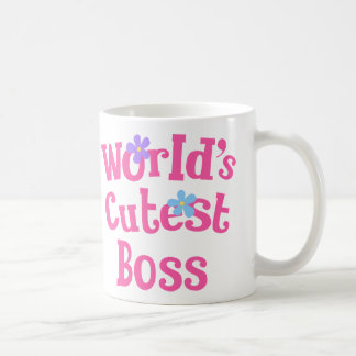 Caneca De Café Ideia do presente do chefe para ela (mundos os