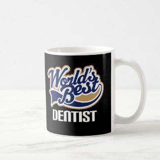 Caneca De Café Ideia do presente para o dentista (mundos