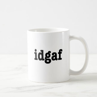 Caneca De Café idgaf eu não dou um F*ck
