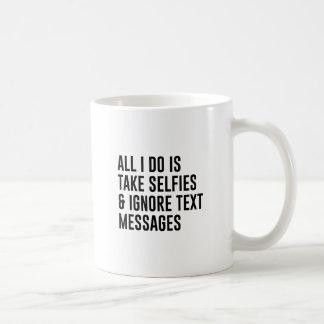 Caneca De Café Ignore textos
