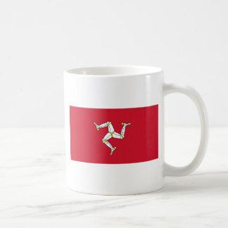 Caneca De Café Ilha da bandeira do homem - bandeira Manx -