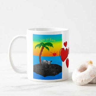 Caneca De Café Ilha da ovelha para o dia dos namorados