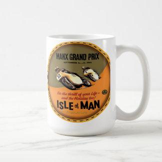 Caneca De Café Ilha de raças da motocicleta do vintage do homem