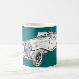 Caneca De Café Ilustração convertível do carro antigo de MG