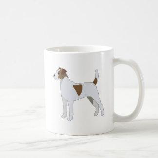 Caneca De Café Ilustração da raça do cão de Russell Terrier do