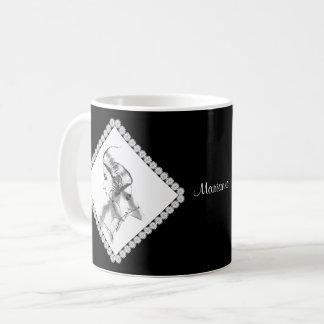 Caneca De Café Ilustração delicada da mulher a personalizar