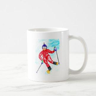 Caneca De Café Ilustração do esporte do esquiador