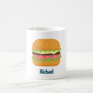Caneca De Café Ilustração do Hamburger personalizada