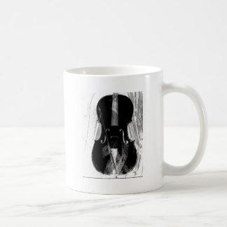 Caneca De Café Ilustração preto e branco do violoncelo