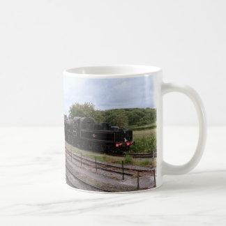 Caneca De Café Imagem manipulada do trem do vapor