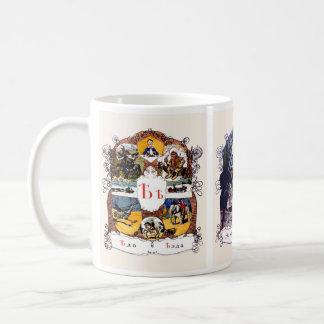 Caneca De Café Imagens do alfabeto de russo, grupo II (no. 6 de