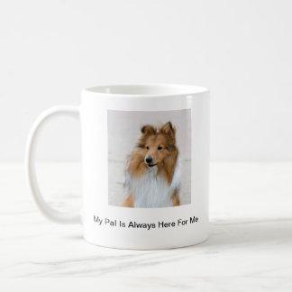 Caneca De Café Imagens do Sheepdog de Shetland