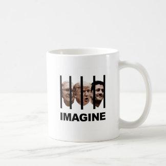 Caneca De Café Imagine o trunfo, o McConnell e o Ryan atrás dos