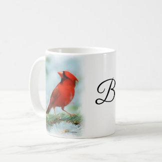 Caneca De Café Impressão cardinal vermelho personalizado