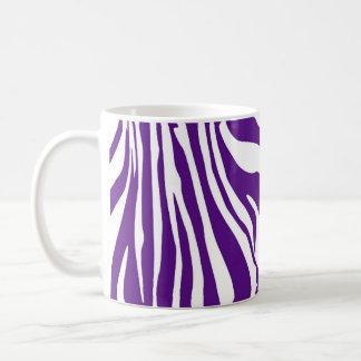 Caneca De Café Impressão da zebra do roxo real