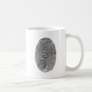 Caneca De Café Impressão digital