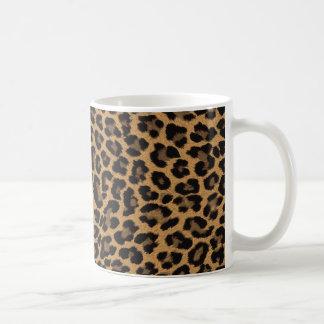Caneca De Café impressão do leopardo do falso