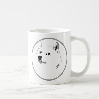 Caneca De Café Impressão minimalista do dogecoin