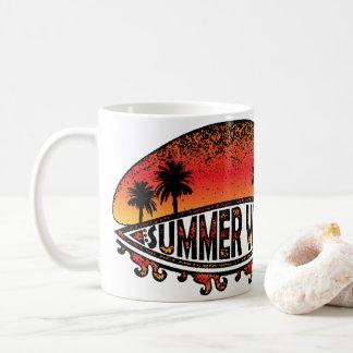Caneca De Café Impressões do verão - pôr do sol infinito