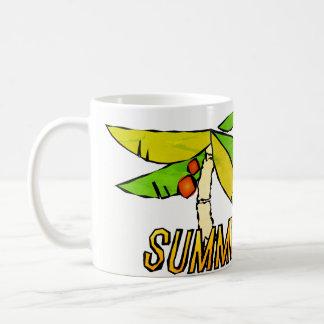 Caneca De Café Impressões do verão - por do sol perfeito da praia