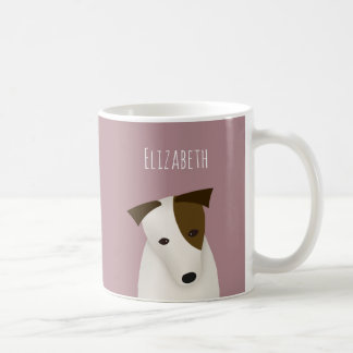 Caneca De Café inclinação da cabeça de Jack Russell Terrier w dos