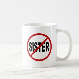 Caneca De Café Indicação permitida irmã do sinal de /No da irmã