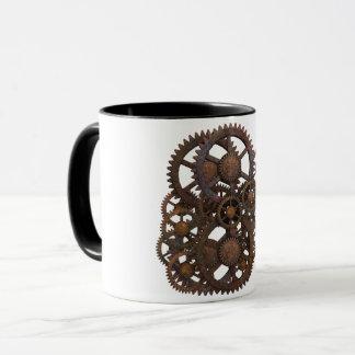Caneca de café industrial das engrenagens