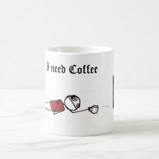 Caneca De Café ineedcoffee, eu preciso o café