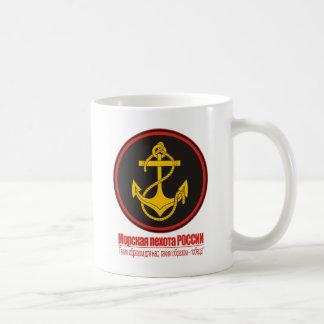 Caneca De Café Infantaria naval do russo (fuzileiros navais)