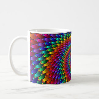 Caneca De Café Infinidade do Fractal da espiral do arco-íris do