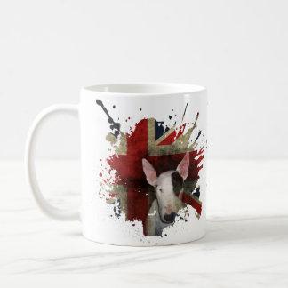 Caneca De Café Inglês branco clássico bull terrier Union Jack da