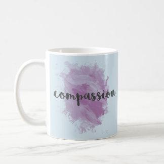 Caneca de café inspirada da aguarela da piedade |