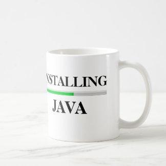 Caneca De Café Instalando Java