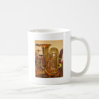 Caneca De Café Instrumento musical de bronze da tuba