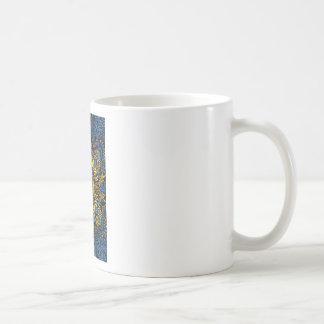 Caneca De Café Intensidade - teste padrão da mandala do contraste