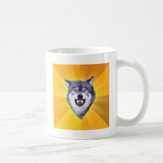 Caneca De Café Internet animal Meme do conselho do lobo da