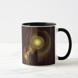 Caneca de café íntimo do abstrato da conexão
