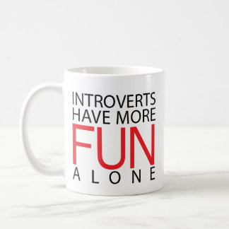 Caneca De Café Introverts tem mais divertimento